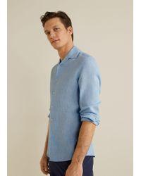 0634bc3dee88 Lyst - Mango Modern Slim-fit Floral Shirt in Blue for Men