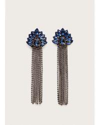 Violeta by Mango - Rhinestone Pendant Earrings - Lyst