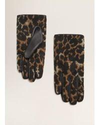 Mango - Leopard Gloves - Lyst
