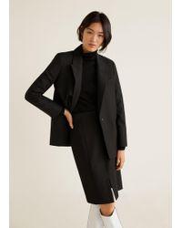 Mango - Cut-out Detail Skirt - Lyst