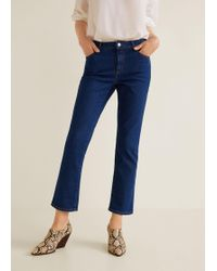 Mango - Straight Cropped Jandri Jeans - Lyst