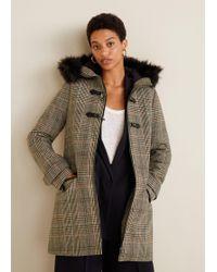 Mango - Faux Fur Hooded Coat - Lyst