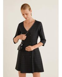 Mango - Double-breasted Dress - Lyst