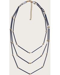 Violeta by Mango - Beaded Waterfall Necklace - Lyst