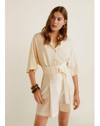 Mango - Belt Soft Fabric Shorts - Lyst