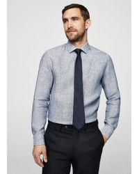 Mango - Slim-fit Tailored Striped Linen Shirt - Lyst