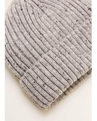 Mango - Flecked Knit Beanie - Lyst