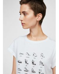 Mango - Printed Message T-shirt - Lyst