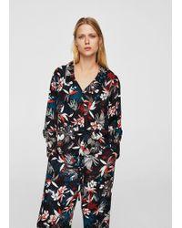 Mango - Floral Print Shirt - Lyst