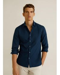 Mango - Slim-fit Patterned Shirt - Lyst