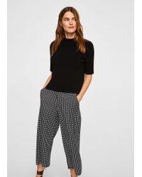 Mango - Printed Crop Trousers - Lyst