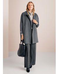 Violeta by Mango - Oversize Wool Coat - Lyst