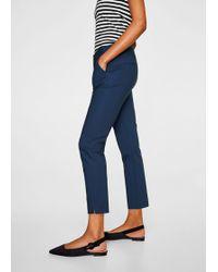 Mango - Slim-fit Cotton-blend Trousers - Lyst