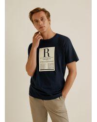 Mango - Printed Message T-shirt - Lyst