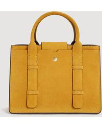 Mango - Double-strap Leather Bag - Lyst