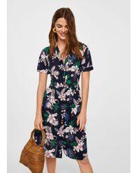 Mango | Printed Shirt Dress | Lyst