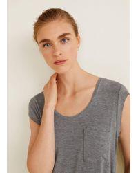 Mango - Patch Pocket T-shirt - Lyst