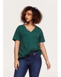 Violeta by Mango - V-neck T-shirt - Lyst