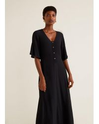 Wide In Mango Black Pleated Lyst Dress dwgxUR0qg