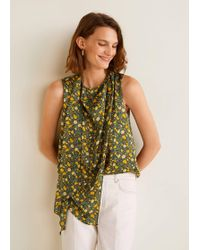 Mango - Floral Print Top - Lyst