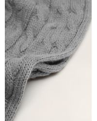 Mango - Cable-knit Scarf - Lyst