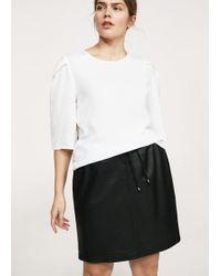 Violeta by Mango | Leather Miniskirt | Lyst