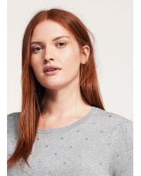 Violeta by Mango - Metallic Polka Dot Sweater - Lyst