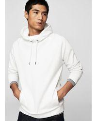 Mango - Hoodie Cotton Sweatshirt - Lyst