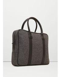 Mango - Wool Felt Briefcase - Lyst