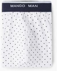 Mango | Polka-dot Cotton Boxer Shorts | Lyst