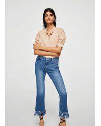 Mango | Frayed Edges Jeans | Lyst