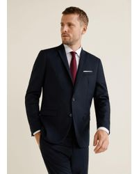 Mango - Super Slim-fit Patterned Suit Blazer - Lyst