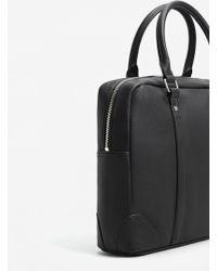 Mango - Pebbled Briefcase - Lyst