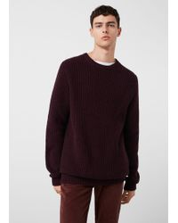 Mango - Cotton Wool-blend Ribbed Jumper - Lyst