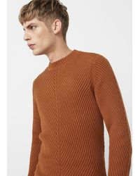 Mango - Ribbed Cotton-blend Jumper - Lyst