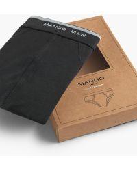 Mango | Logo Cotton Briefs | Lyst