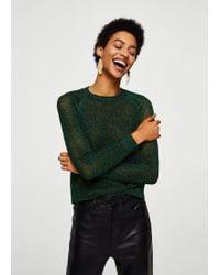 Mango - Metallic Finish Sweater - Lyst