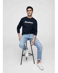 Mango - Message Cotton Piqué Sweatshirt - Lyst