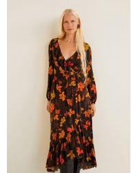 Mango - Embossed Flower Gown - Lyst