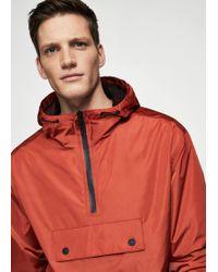 Mango - Hooded Pouch Pocket Jacket - Lyst