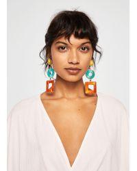 Mango - Geometric Earrings - Lyst