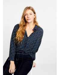 Violeta by Mango - Buttoned Printed Blouse - Lyst