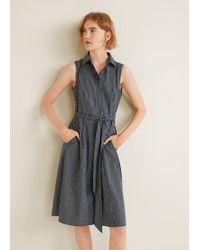 f25f92da24 Calvin Klein Jeans Denim Shirt Dress in Blue - Lyst
