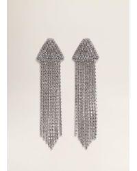 Mango - Pendant Crystals Earrings - Lyst