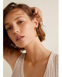 Mango - Tortoiseshell Resin Earrings - Lyst