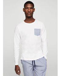 Mango - Fine-stripe Cotton Pyjamas - Lyst