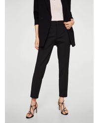 Mango - Straight-cut Crop Trousers - Lyst