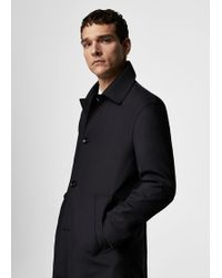 Mango - Buttons Wool Trench Coat - Lyst