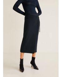Mango - Knit Wrap Skirt - Lyst