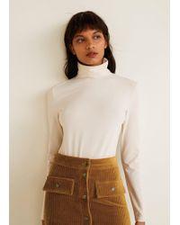 Mango - Buttoned Corduroy Skirt - Lyst